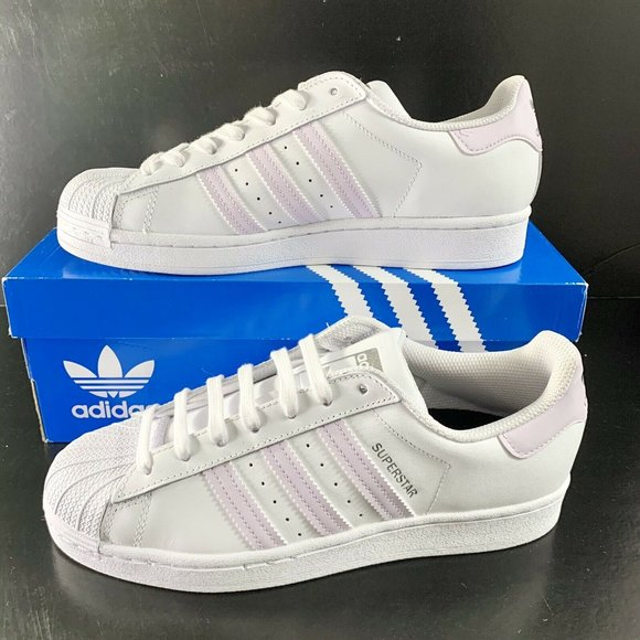 New Superstar Sneakers White Purple